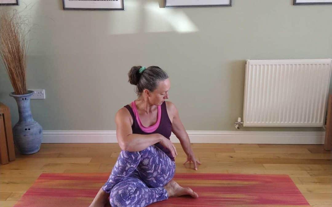 Simple Twist Yoga Pose